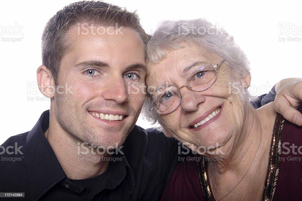 Liebevoll Großmutter. – Foto