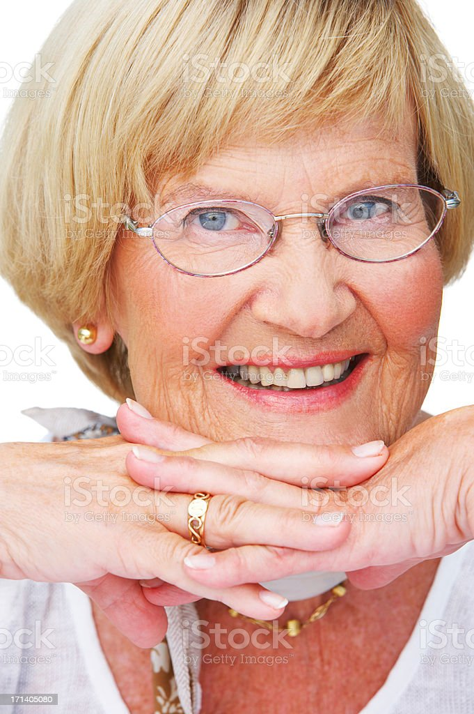 A loving grandparent royalty-free stock photo