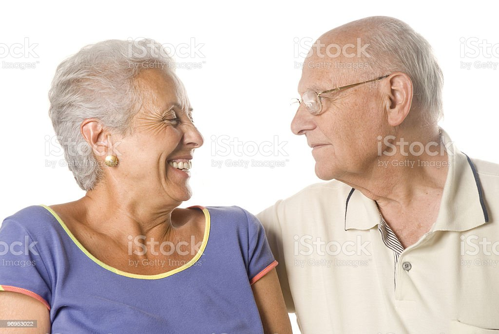 Loving, handsome senior couple royalty-free stock photo