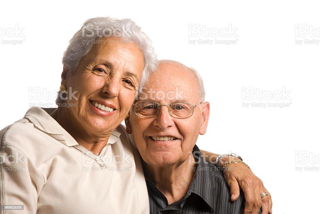 Loving handsome senior couple royalty-free stock photo