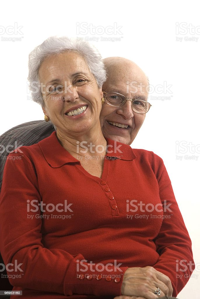 Loving, handsome senior couple royalty-free stock photo