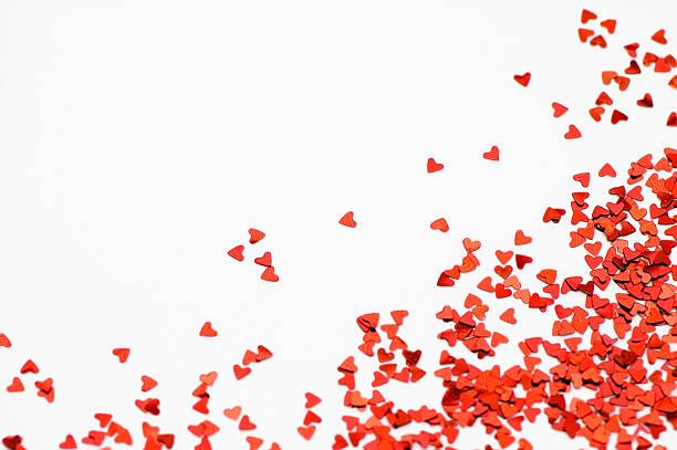 Loving Hearts Confetti stock photo