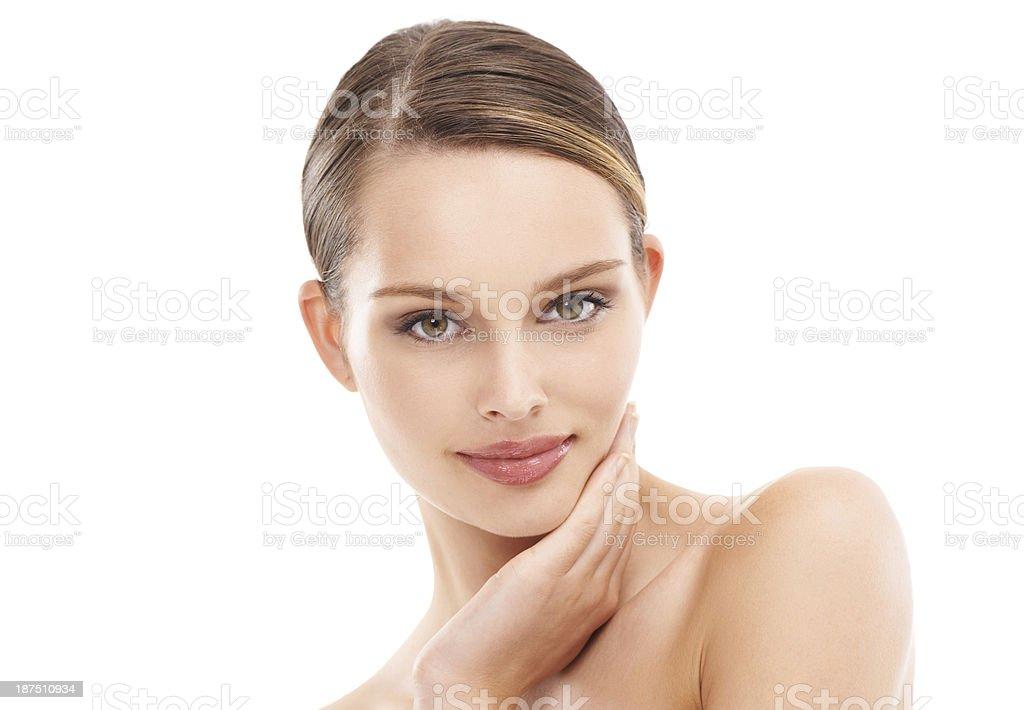 Loving her skin royalty-free stock photo