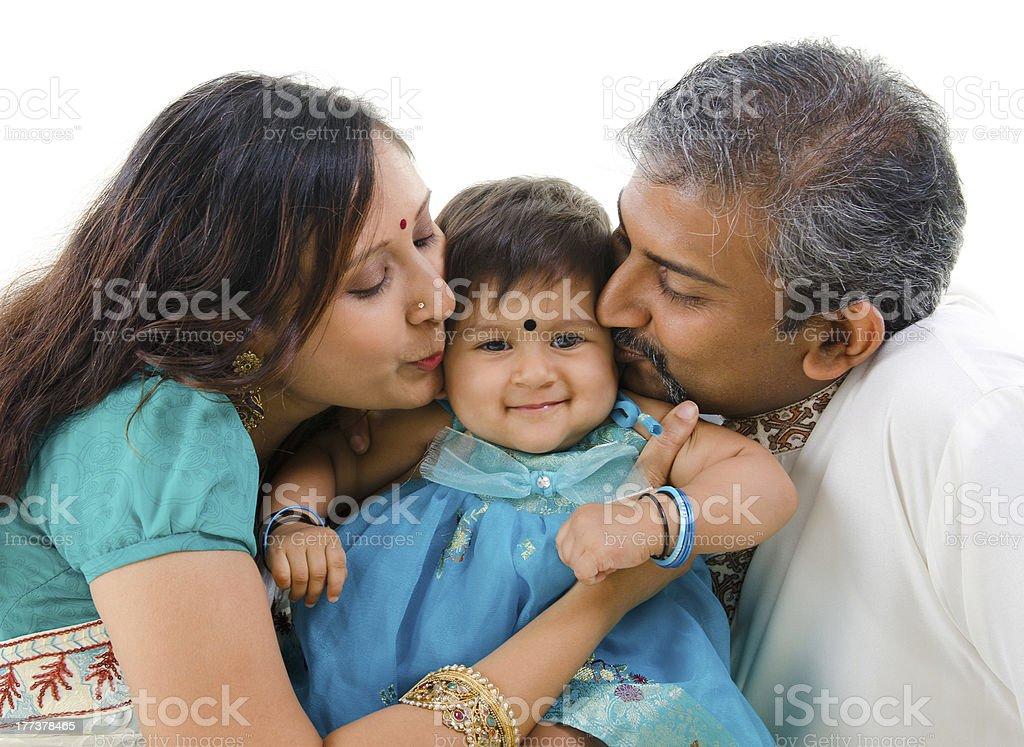 Loving kiss royalty-free stock photo