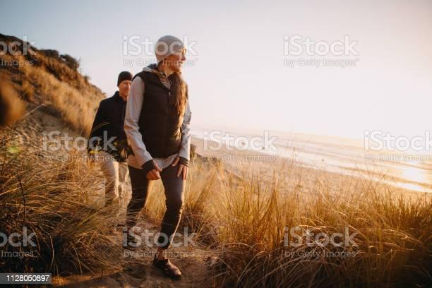 Photo of Loving Mature Couple Hiking At Oregon Coast