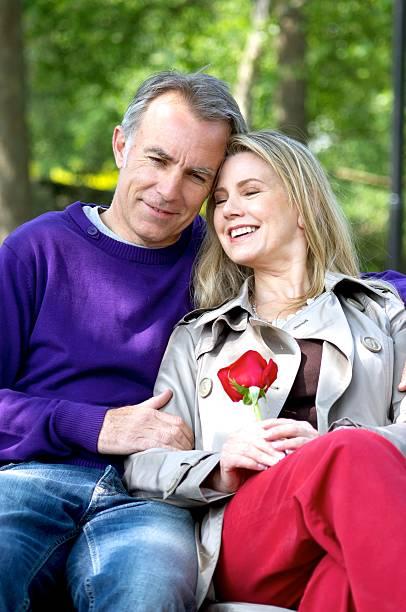 Loving Mature Couple stock photo
