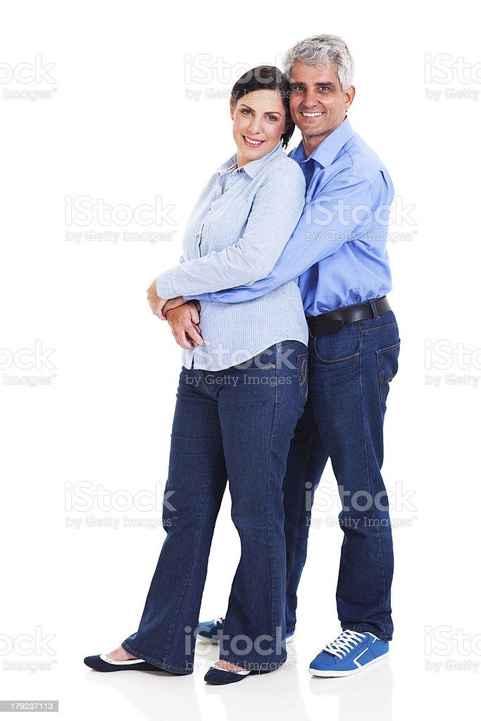 loving middle aged couple royalty-free stock photo