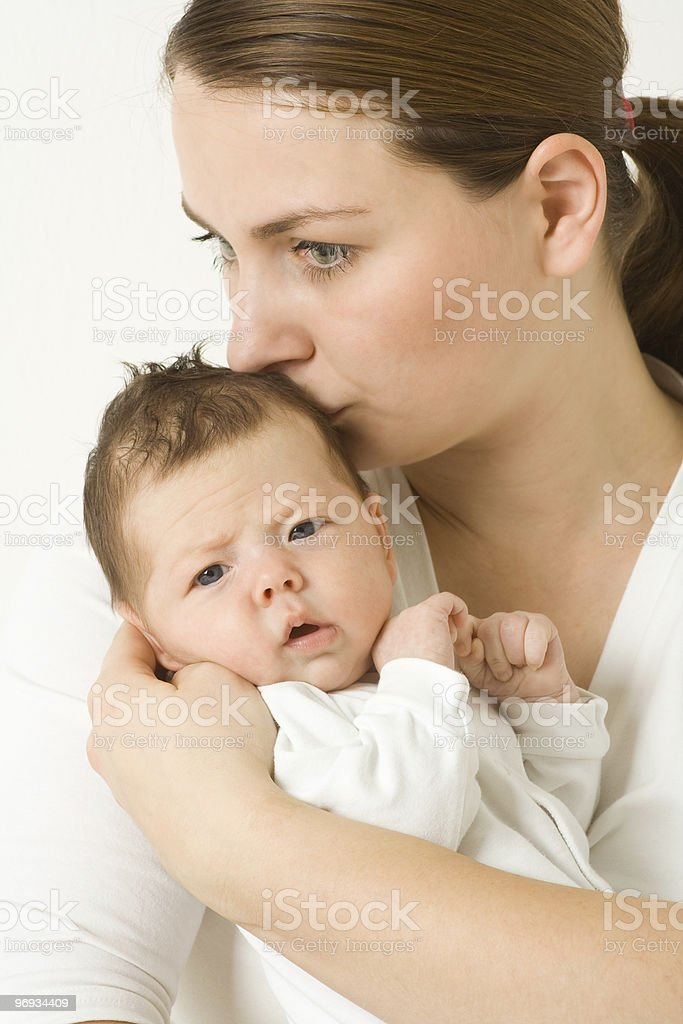 Loving mother with baby royalty-free stock photo