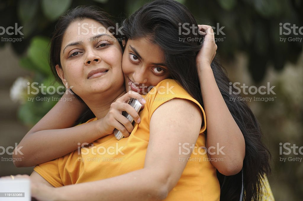 Loving mother with daughter stock photo