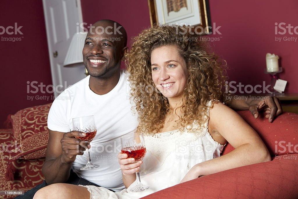 Loving multiracial couple royalty-free stock photo