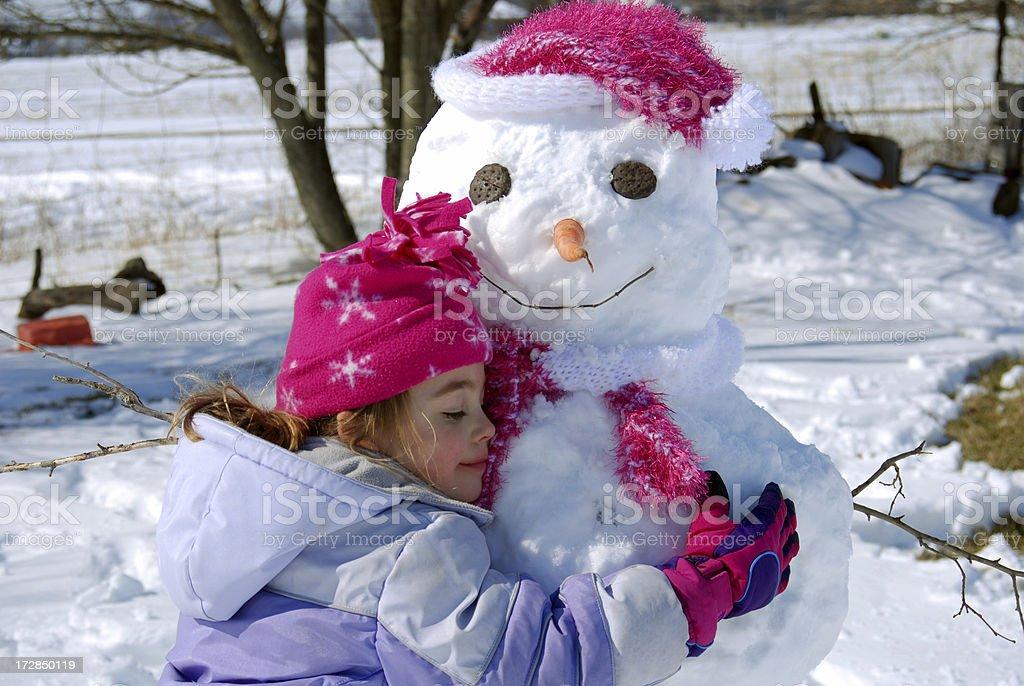 Loving my Snowman Mommy royalty-free stock photo