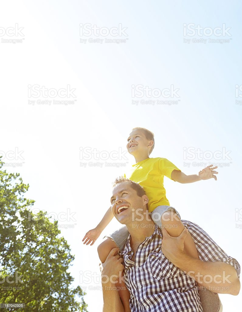Loving nature together stock photo