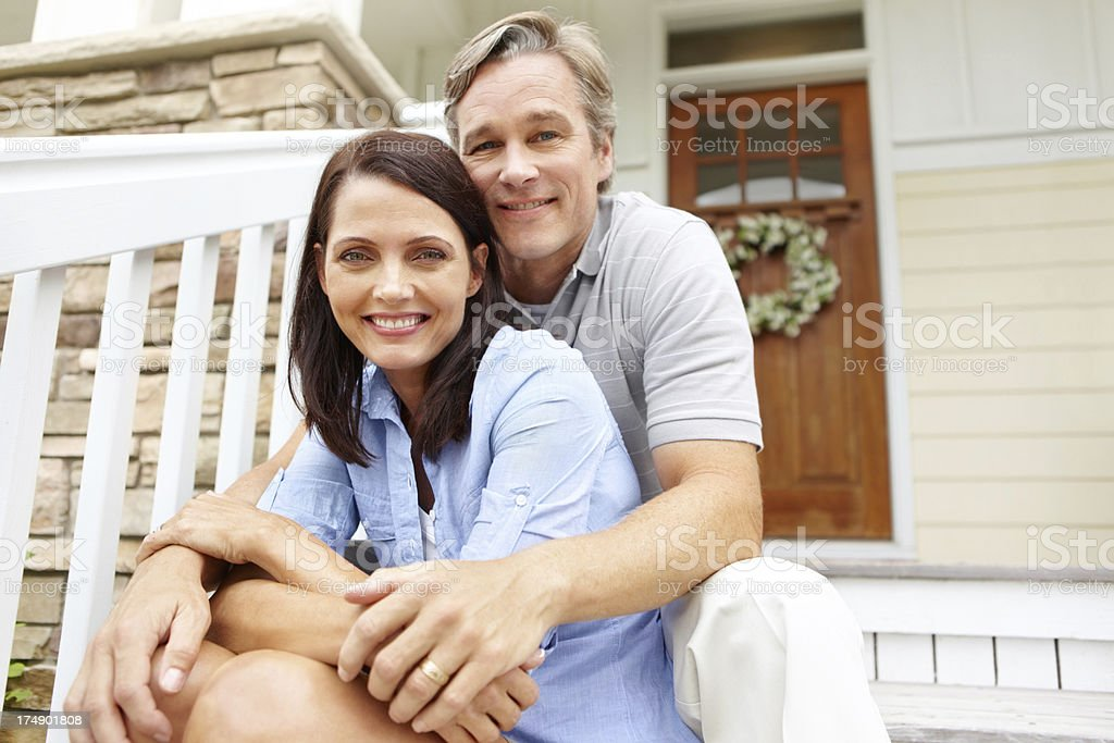 Loving our home royalty-free stock photo