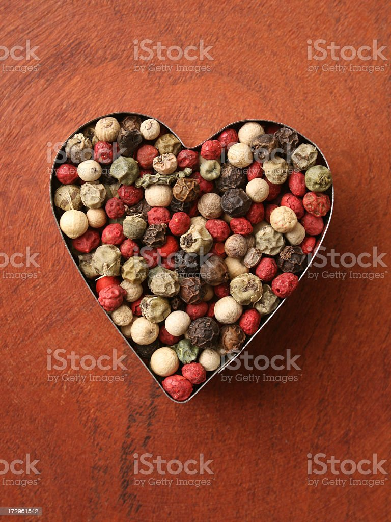 Loving pepper royalty-free stock photo