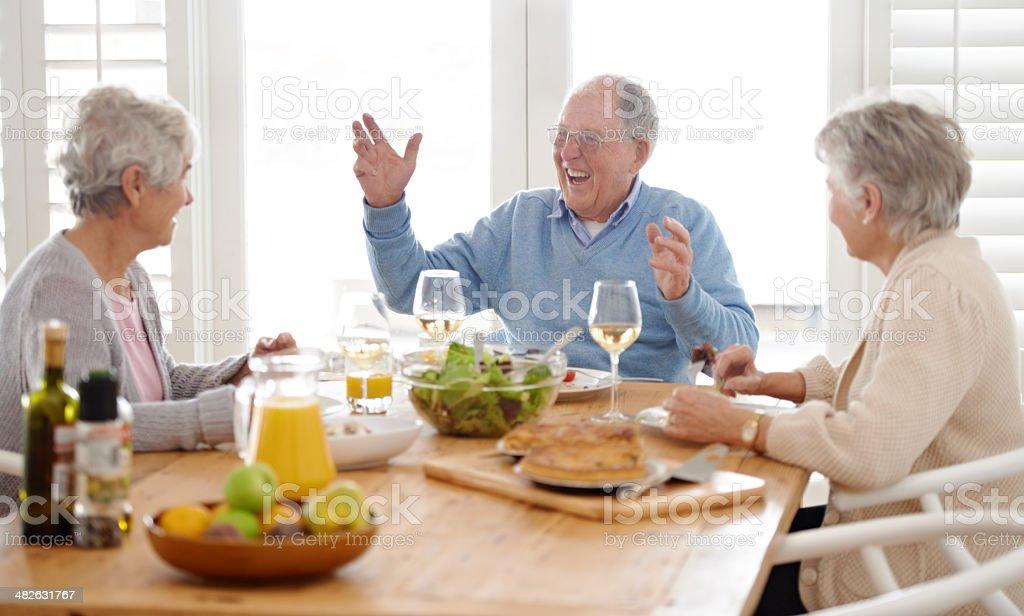 Loving retirement! royalty-free stock photo