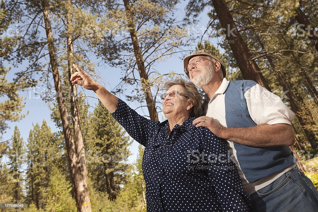 Loving Senior Couple Enjoying the Outdoors royalty-free stock photo