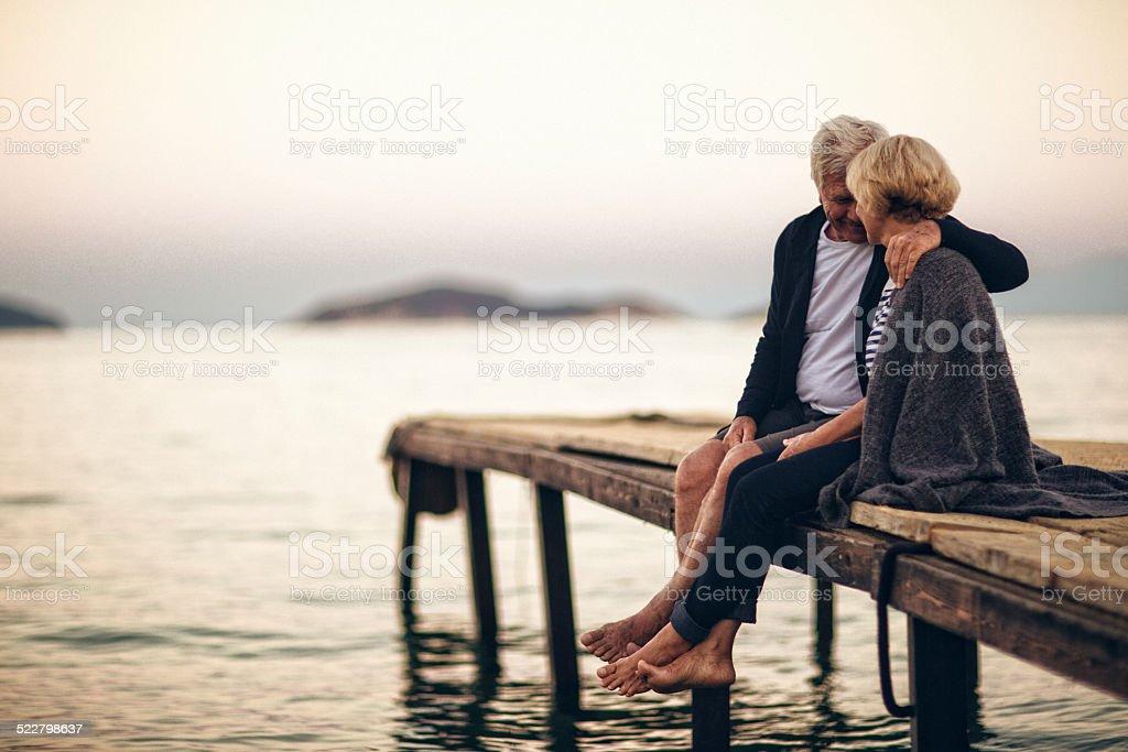 Loving senior couple enjoying their life together royalty-free stock photo
