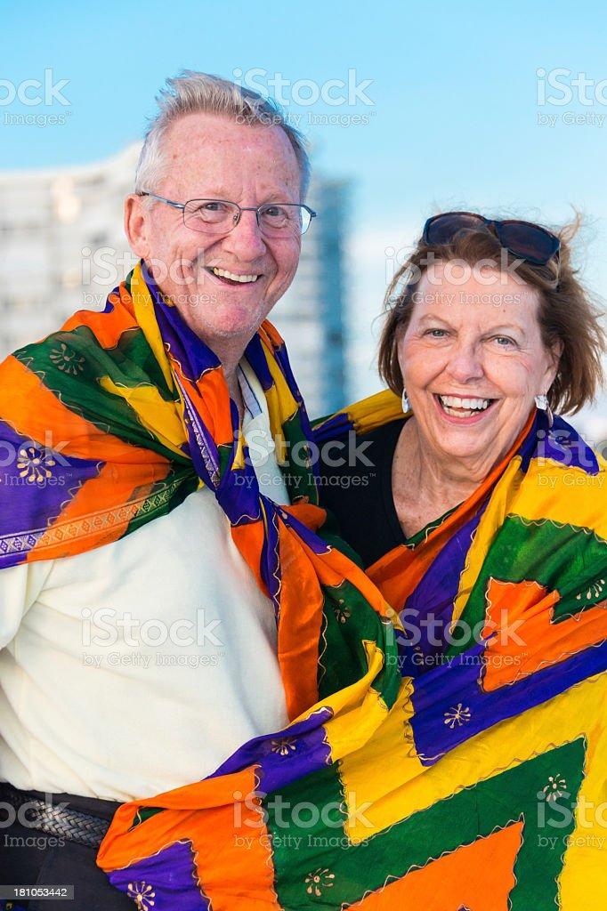Loving seniors royalty-free stock photo