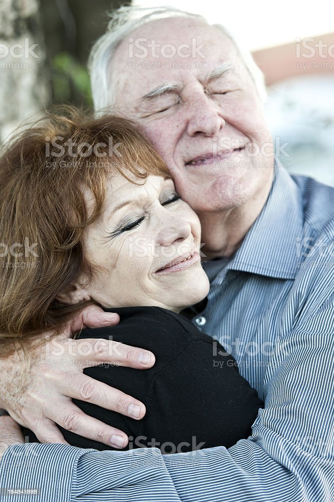 Loving seniors royalty-free stock photo