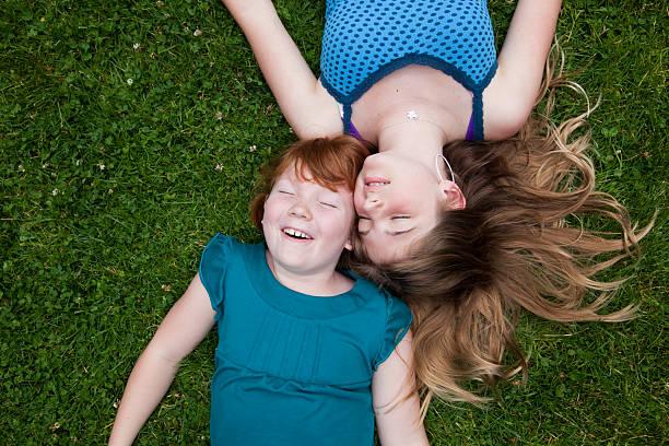 Loving Sisters stock photo