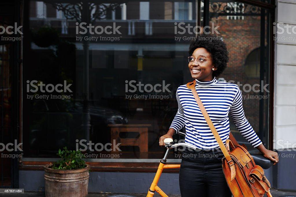 Loving the city sights stock photo