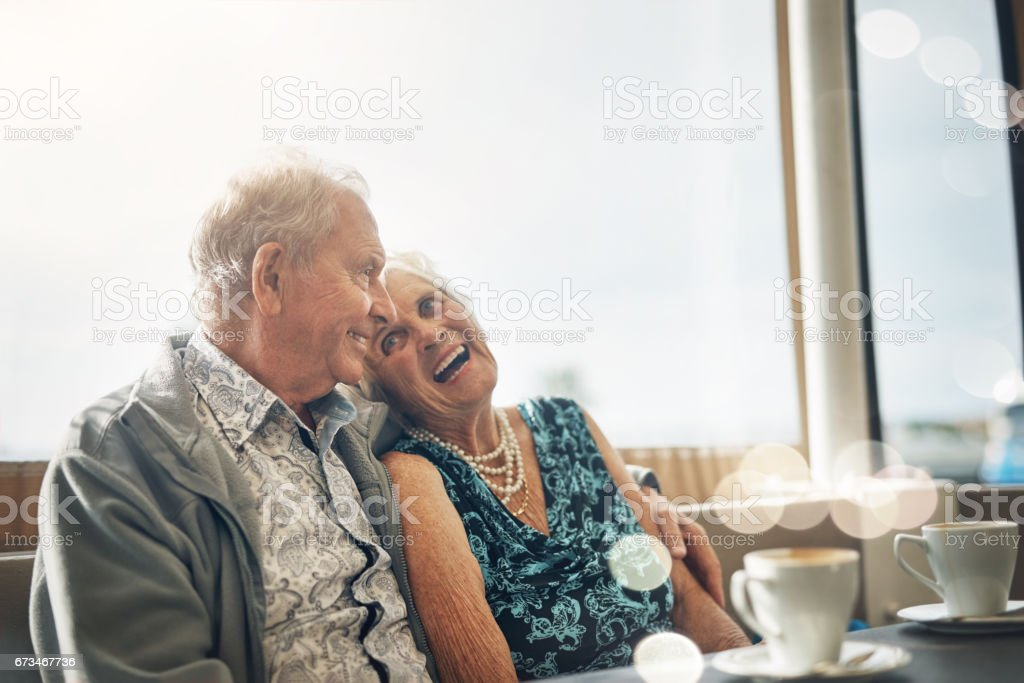 Loving the dating experience in the later years stock photo