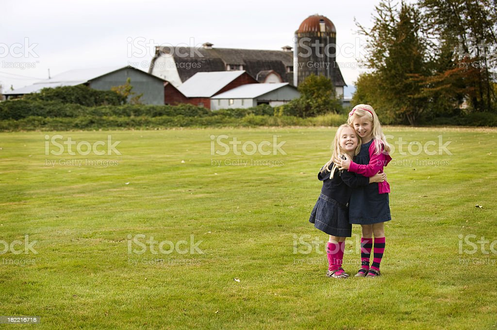 Loving the farm stock photo