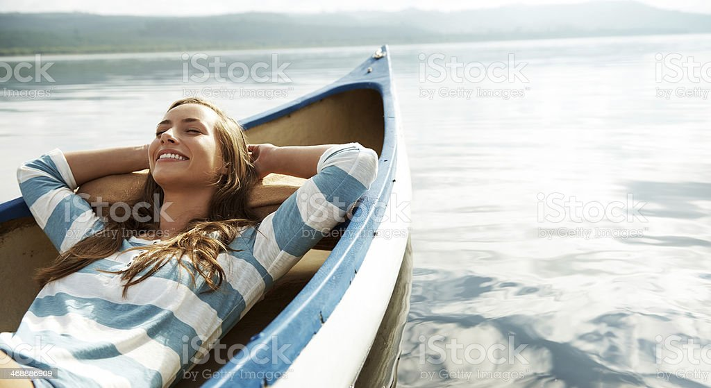 Loving the fresh air stock photo