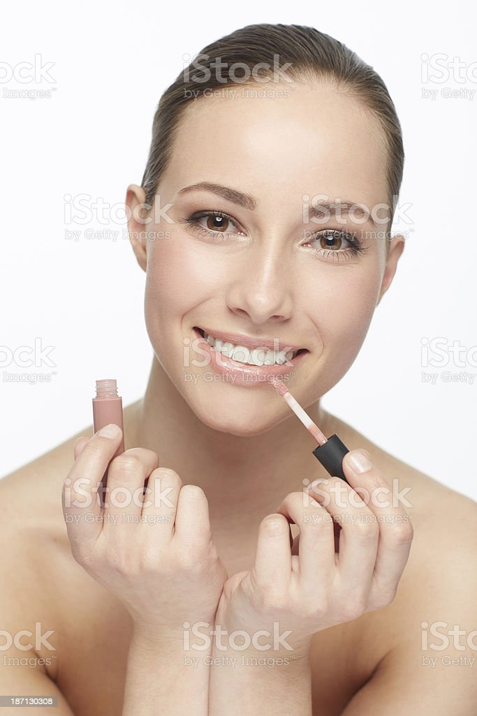 Loving the natural look! royalty-free stock photo