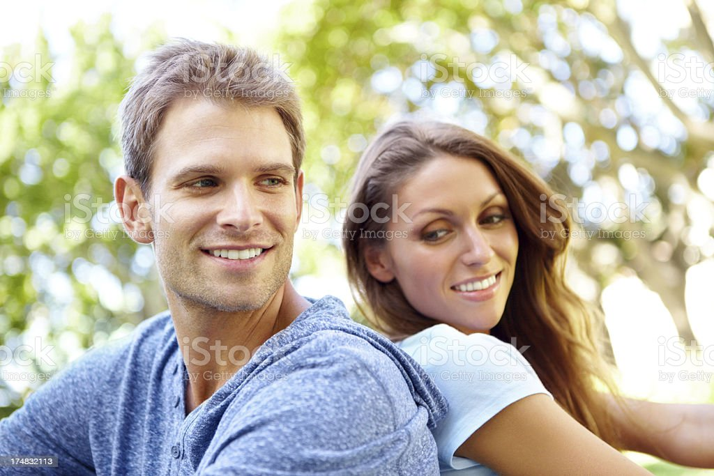 Loving their time in the sun royalty-free stock photo