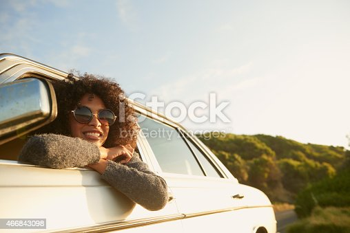 Cropped shot of an attractive young woman leaning out of a car window on a roadtriphttp://195.154.178.81/DATA/istock_collage/a5/shoots/785271.jpg