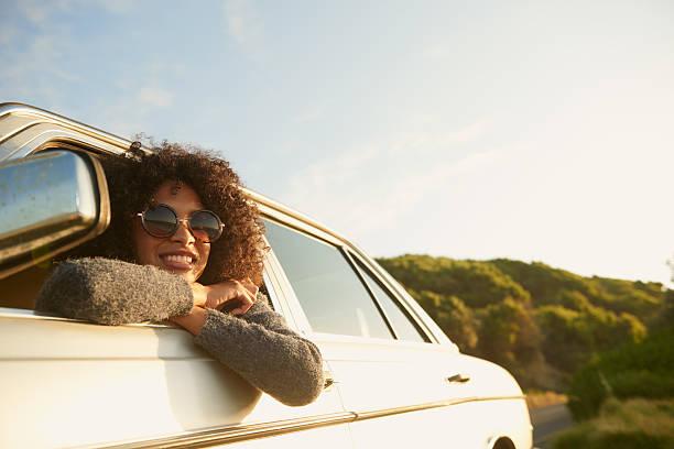 amo esta viagem! - carro mulher - fotografias e filmes do acervo