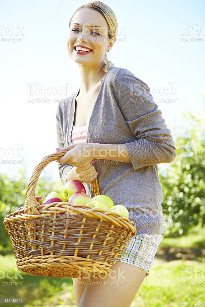 Loving this summer day on the farm royalty-free stock photo