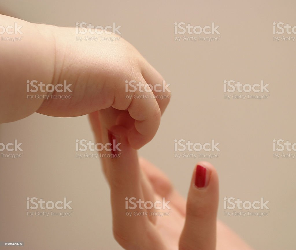 Loving touch royalty-free stock photo