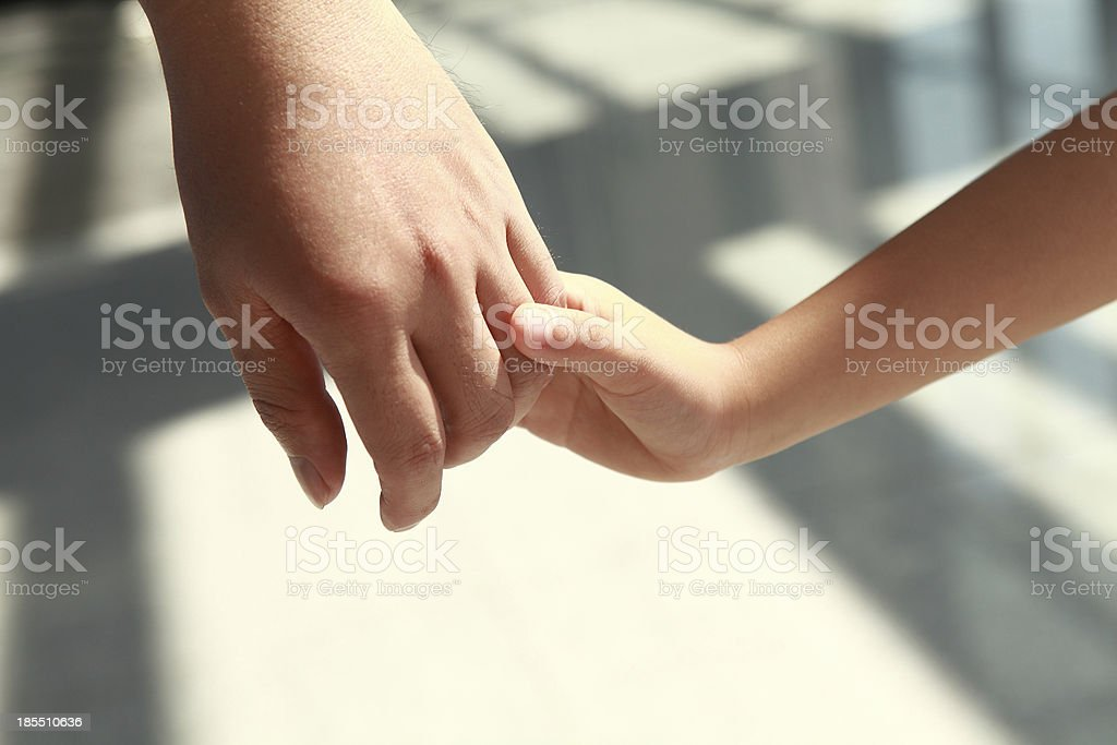 Loving touch stock photo