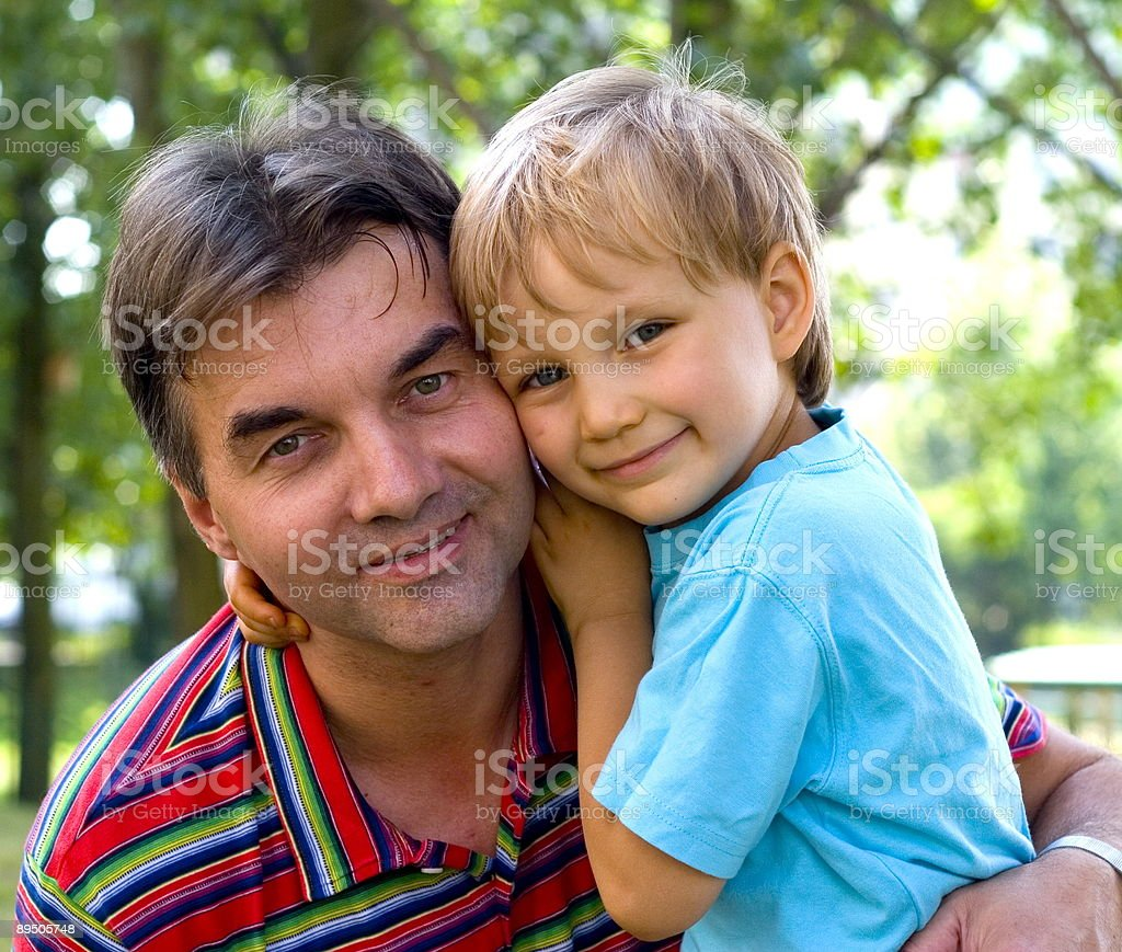 Loving Uncle And Nephew royalty-free stock photo