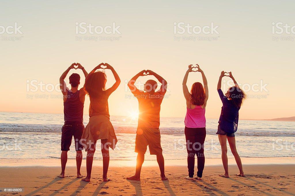 Loving Venice Beach stock photo