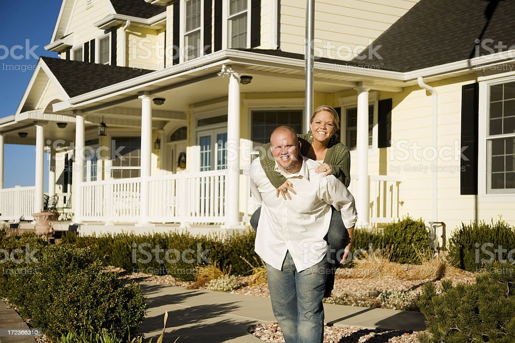Loving Young Couple at Home royalty-free stock photo