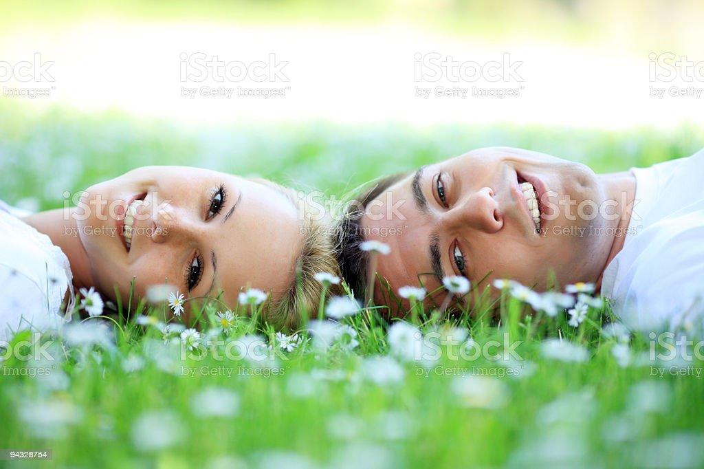 Loving young couple enjoying the spring. royalty-free stock photo