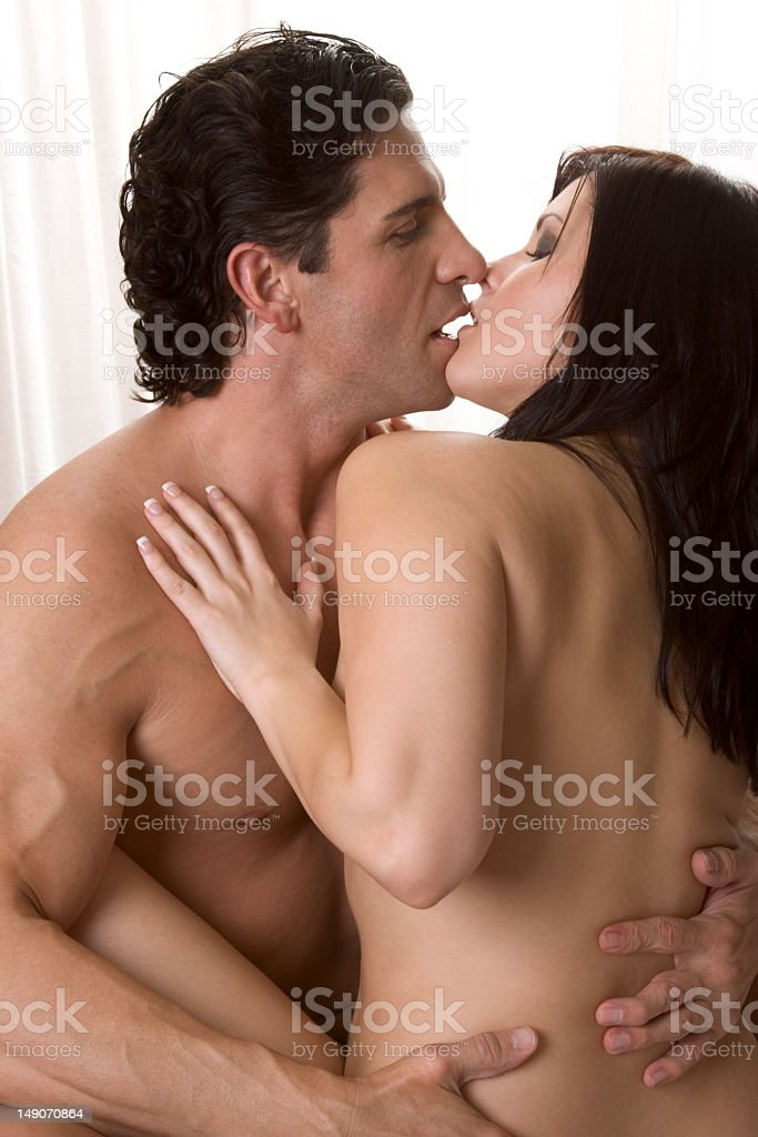 Loving Young Nude Erotic Sensual Couple In Bed Royalty Free Stock Photo