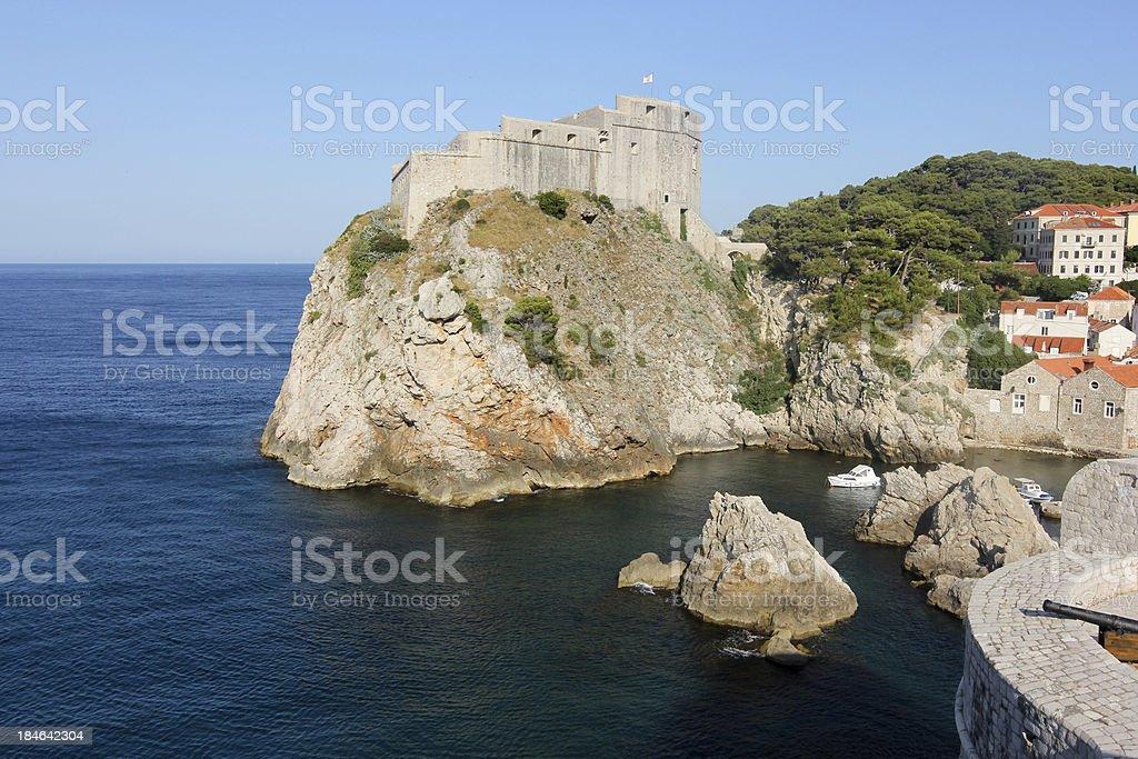 Lovrijenac Fortress in Dubrovnik, Croatia royalty-free stock photo