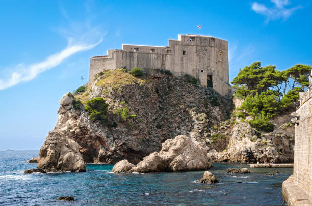 Lovrijenac fortress in Dubrovnik stock photo