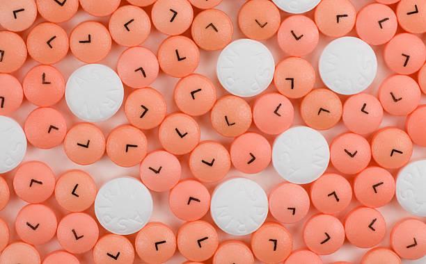 Low and Regular Dose Aspirin stock photo