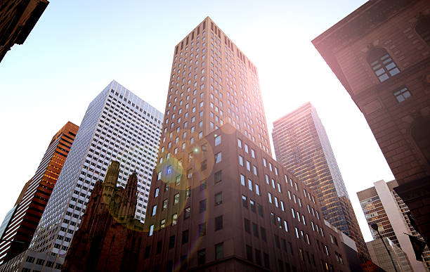 low angle buildings - generic location stock pictures, royalty-free photos & images
