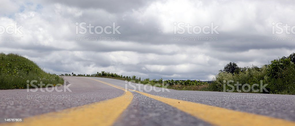 Low angle of country road royalty-free stock photo