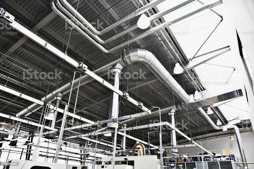Low angle of industrial warehouse royalty-free stock photo