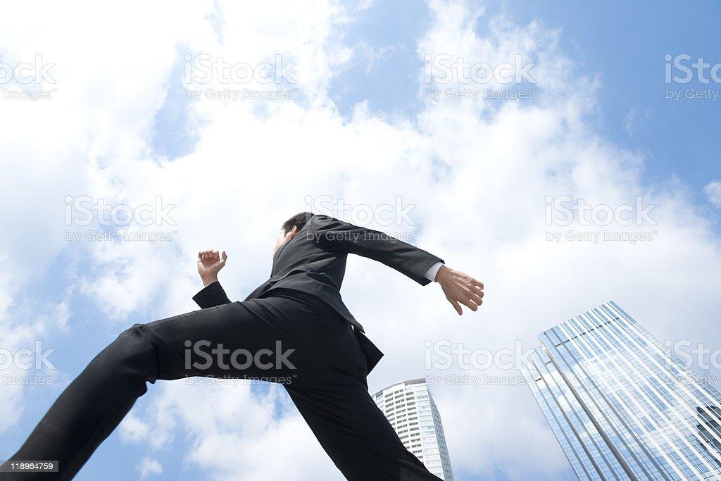 Running-Geschäftsmann – Foto
