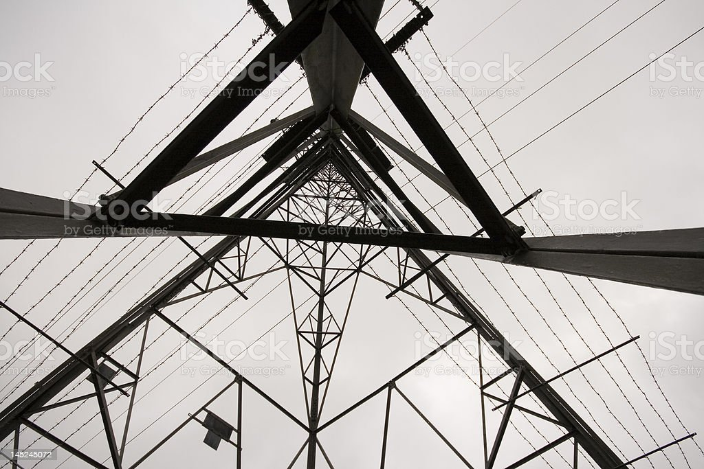 Low angle shot of Electricity Pylon stock photo