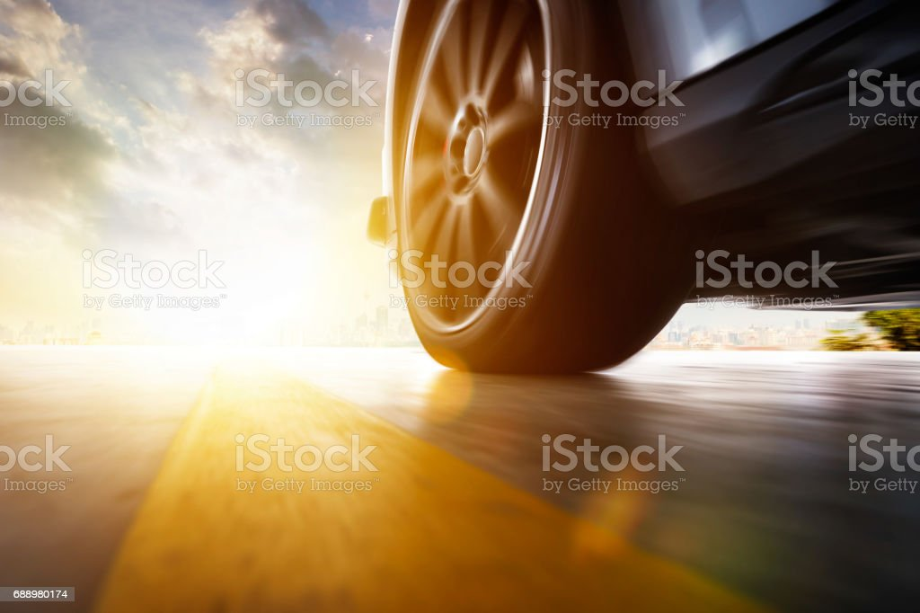 Low angle side view of car stock photo