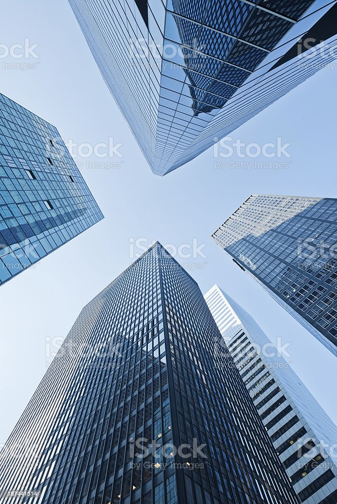 Low angle skyscrapers royalty-free stock photo